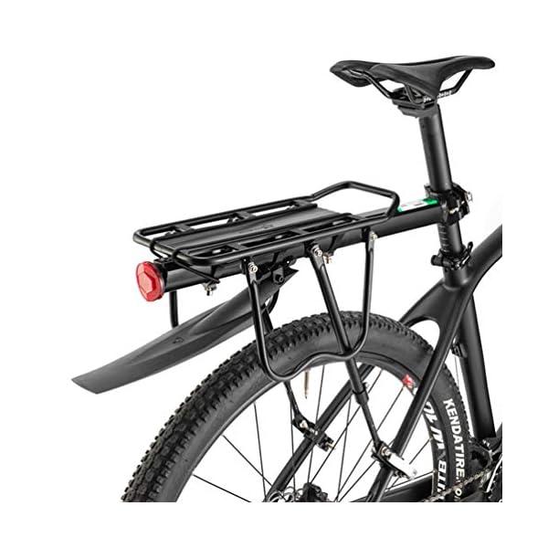 ROCKBROS Portapacchi Bici Alluminio Universle Regolabile per Bici MTB Portapacchi Posteriore Mountain Bike capacità… 1 spesavip
