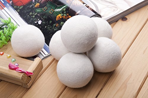 Best Selling SG 6 Eco-friendly 100% Premium New Zealand Wool Dryer Balls (XL, Handmade, All-Natural Fabric Softener--Great Stocking Stuffer!)--Extra Large Premium Quality--Save Time and Money (Best Selling Fabric Softener)
