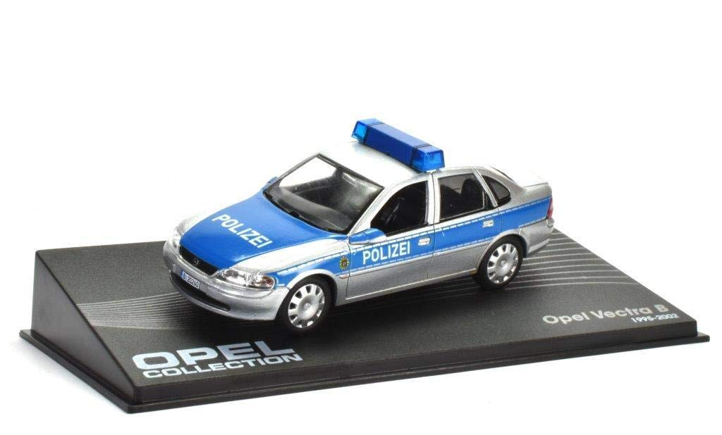 Opel Vectra B 'Polizei' Fertigmodell in Displayvitrine Maßstab 1:43 ATLAS