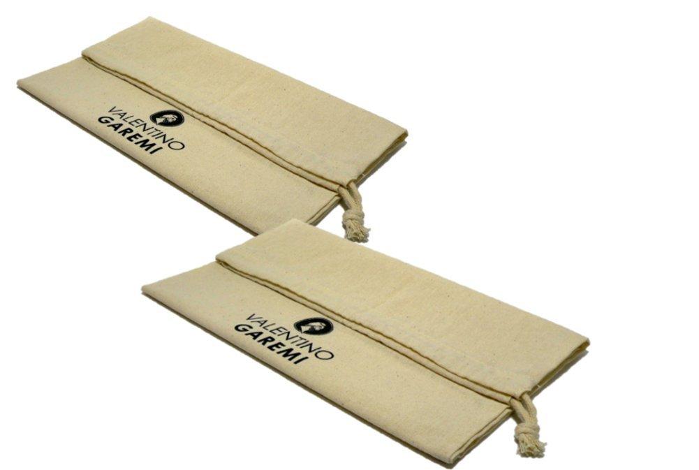 Valentino Garemi 2 Shoe Storage Travel Bag Dust Moisture Light Protection Natural Cotton