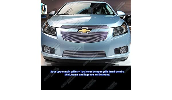 APS Compatible with 2011-2014 Chevy Cruze Billet Grille Grill Insert Combo S18-A62016C