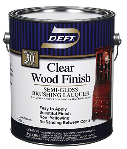 Deft 01101 Clear Wood Finish Lacquer 1gal - Semi Gloss (Pack Of 4) by Deft