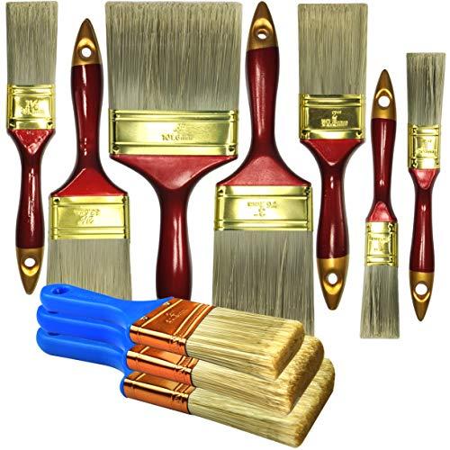 (10 Piece Professional Painters Heavy Duty Paint Brush,Paint Brushes,Paint Brushes Set,Paint Brushes,Painters Tools,Painters Brush,Painters Paint)