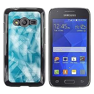 Be Good Phone Accessory // Dura Cáscara cubierta Protectora Caso Carcasa Funda de Protección para Samsung Galaxy Ace 4 G313 SM-G313F // Blue White Winter Cold Snow Ice