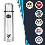 Cello Flip Style Stainless Steel Bottle Hot and Cold, 1 Litre, Silver