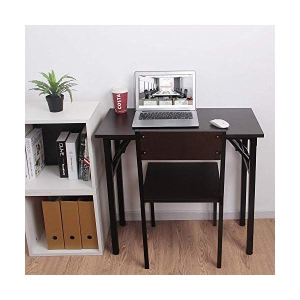 Need Bureau d'Ordinateur Informatique Pliante Table d'étude/à dîner Pliable pour Maison/Bureau, Teck Chêne Couleur…