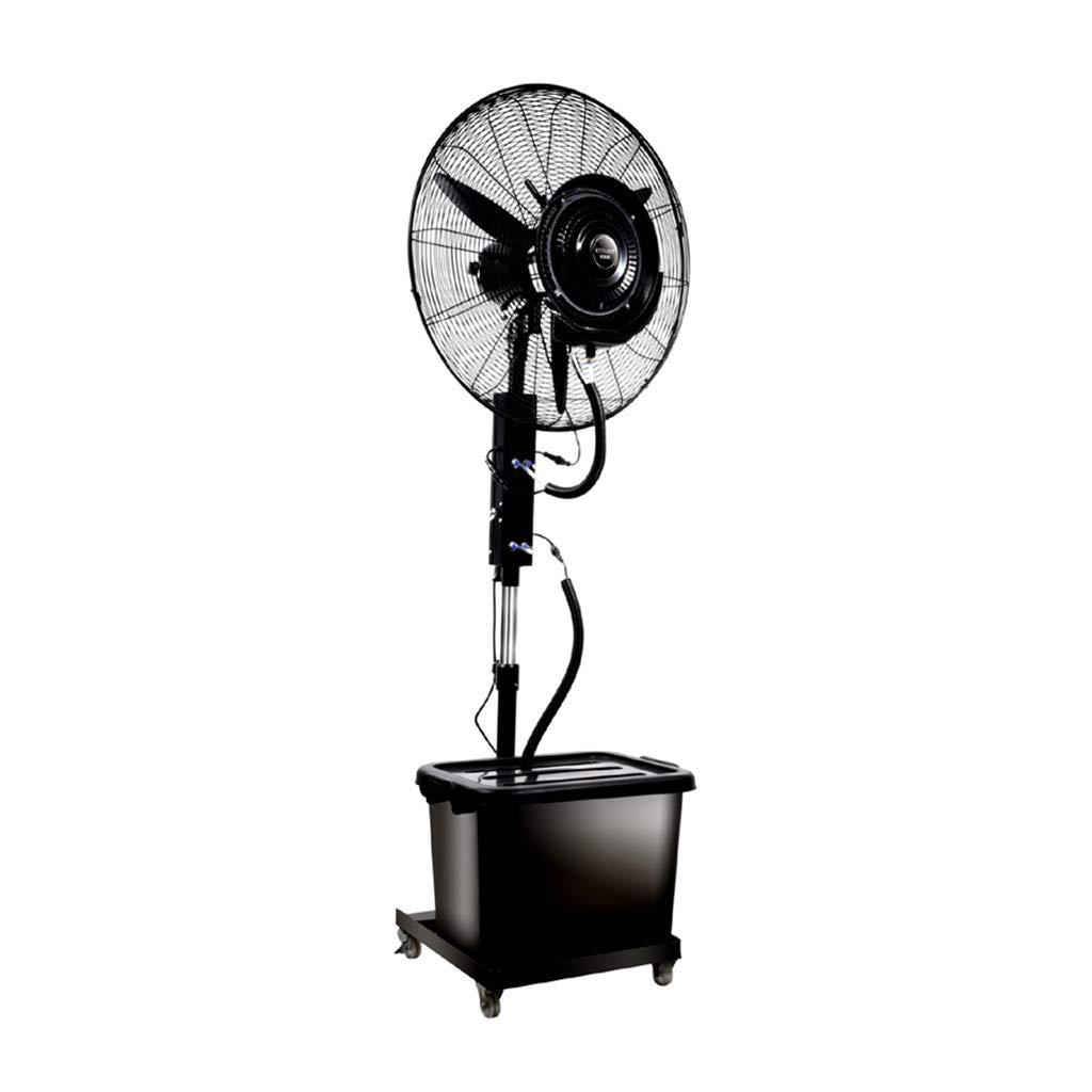 Standing Pedestal Fan Outdoor Misting Fan Oscillating Pedestal Fan Cooling Misting Spray Adjustable Height 3-Speed/42L Water Tank Large for Industrial, Commercial, Residential, and Greenhouse by LLZ-Fan