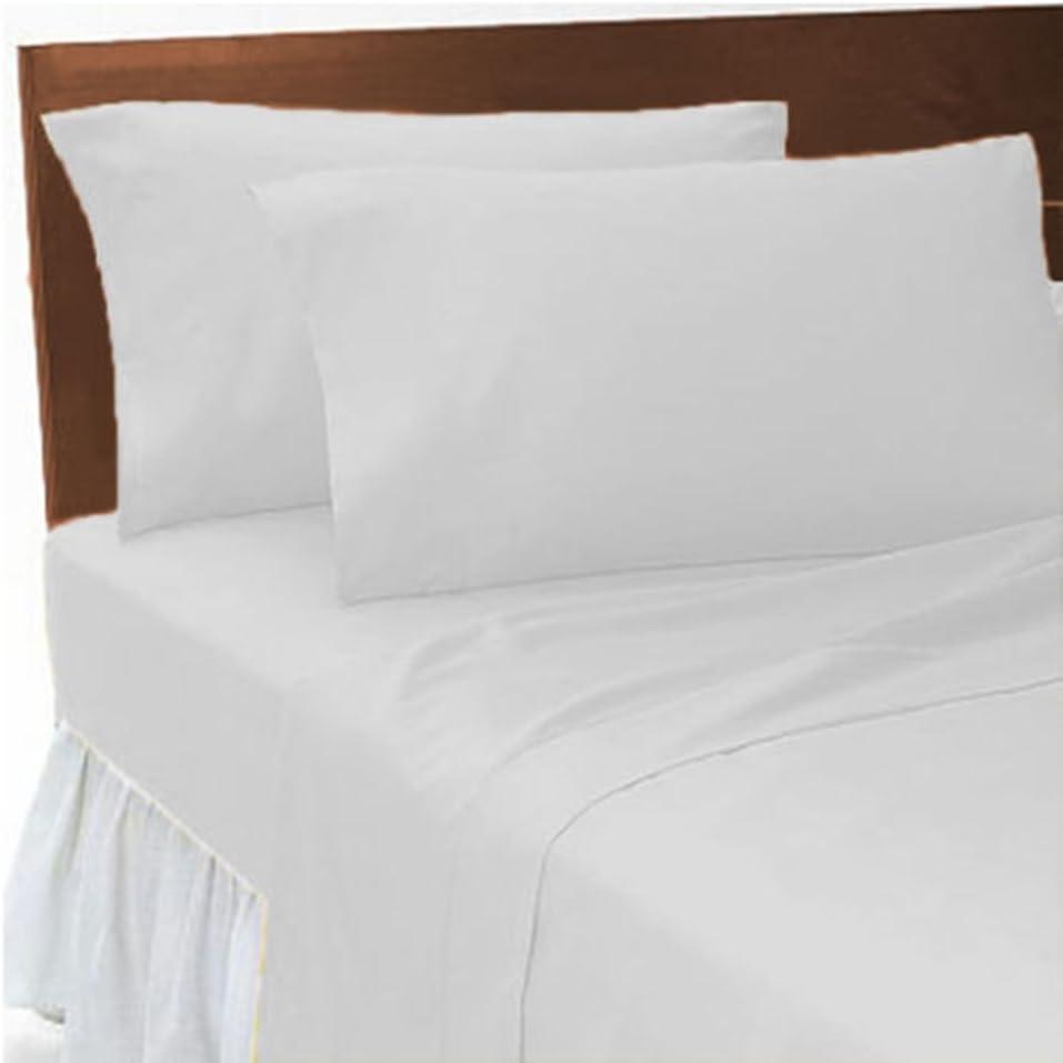 Goldstar/® White Super King Size Flat Sheet Polycotton Bedding Plain Dyed Bed Linen