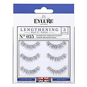 Eylure Lengthening Eyelash Multipack, 035, 3 Count