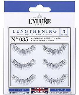 4f152611ece Eylure Lengthening False Eyelashes Multipack, Style No. 035, Reusable,  Adhesive Included,
