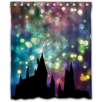 Delean Custom Hogwarts School Of Witchcraft And Wizardry Fabric Water Proof Shower Curtain Printed For Bathroom Decoration 60x72 Inches