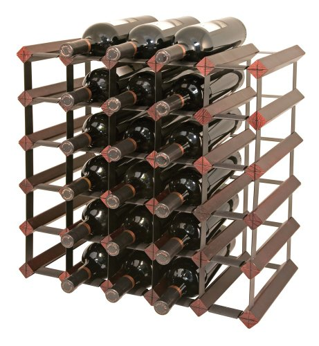 - Final Touch 30 Bottle Wine Rack, Cherry Finish