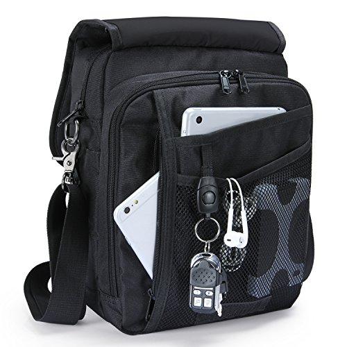 Lifewit Men's Vertical Shoulder Bag 10 Inch Multifunctional Business Messenger Handbag Work Man Purse For Ipad and (Vertical Mens Bag)