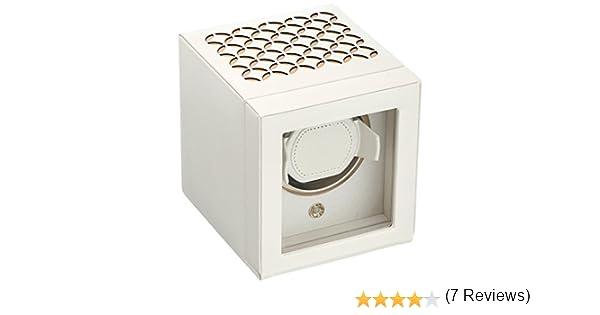 Caja giratoria de la marca WOLF, modelo Chloé, para reloj, color crema: Amazon.es: Relojes