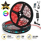 TBI Pro 32.8ft 300LEDs SMD 5050 RGB, 44 Key Remote Controller Upgraded 2019 LED Strip Lights Kit 2-Pack x 5M w/Extra Adhesive 3M Tape, Flexible Changing Multi-Color for TV, Room: more info