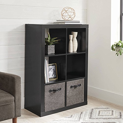 Better Homes and Gardens 6-Cube Decorative Organizer in Black Finish (Black) from Better Homes & Gardens