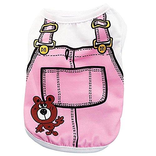 Howstar Pet Shirts Super Cute Puppy Vest Tank Tops Dogs Summer Shirt Soft Sweatshirt (S, Pink)