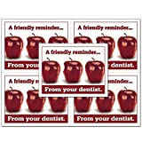Laser Reminder Postcards, Dental Appointment Reminder Postcards. 4 Cards Perforated for Tear-Off at 4.25'' x 5.5'' on an 8.5'' x 11'' Sheet of 8 Pt Card Stock. DEN106-LZS (5000)