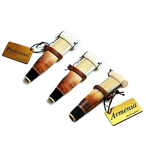 SET of 3 ARMENIAN DUDUK REEDS Key A - Professional handmade duduk reed Ramish Xamish Oboe Balaban Woodwind Instrument - Mey Ney