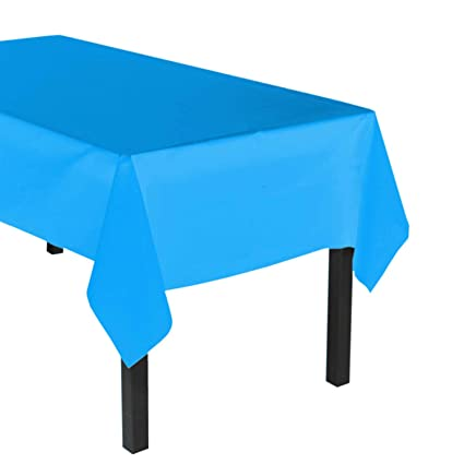 Party Essentials Heavy Duty Plastic Table Cover Available In 44 Colors,  54u0026quot; X 108u0026quot