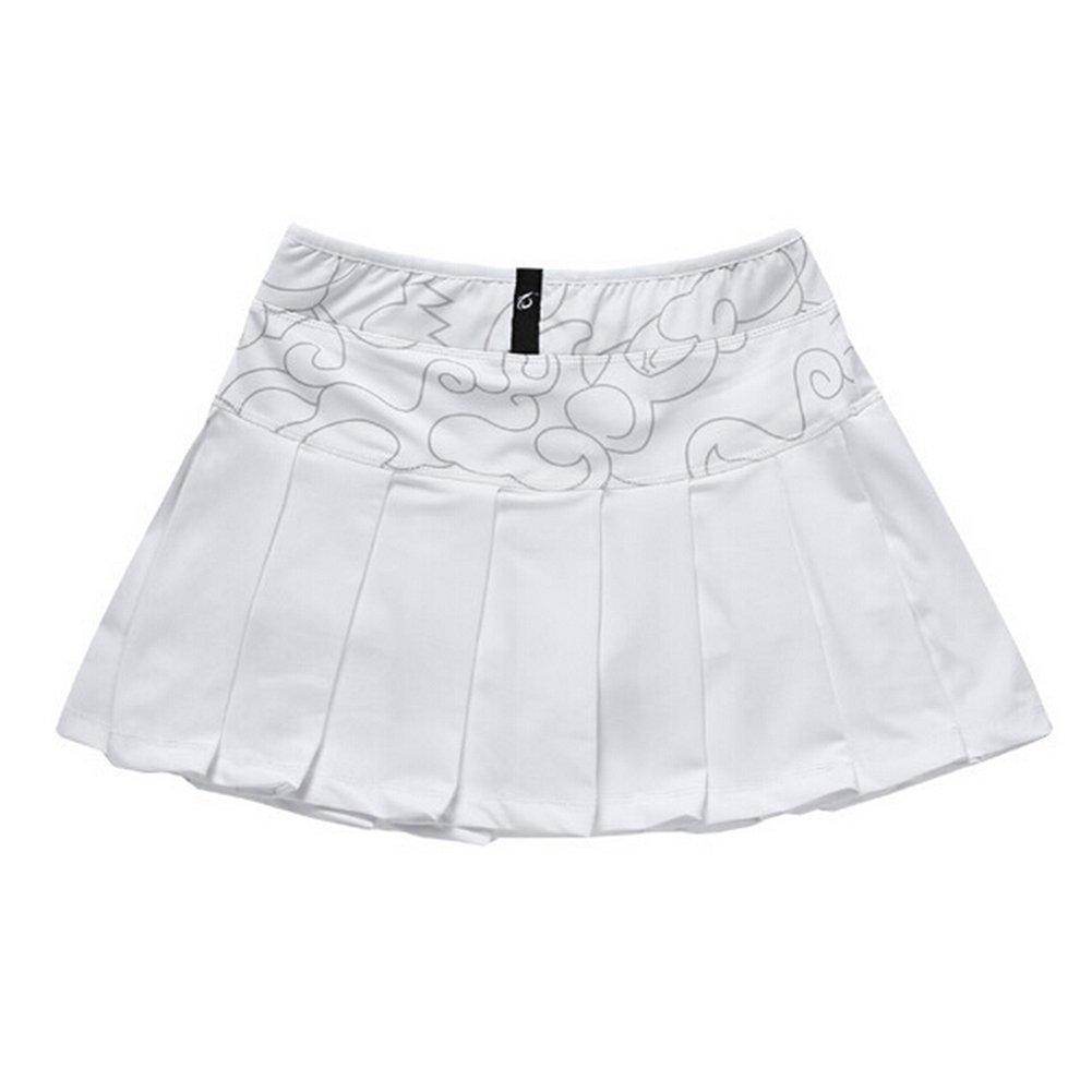 TopTie Pleated Tennis Skirt, Active Performance Sport Skort with Built-In Short-White-XXL SKOV-DK78608_WHITE-XXL