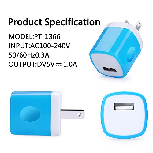 USB Wall Charger,USB Brick CableLovers 3-Pack 1AMP Universal Power Adapter Charger BrickHome Travel Plug Usb Iphone cube Charger for iPhone 7/7 plus 6/6 plus 5S 5 4S Samsung S5 S4 S3, Note 5, HTC, LG