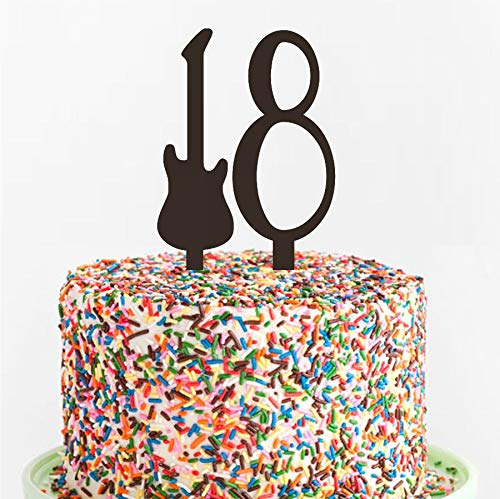 Acrylic Cake Topper Guitar Birthday Cake Topper Custom Laser Cut Variety Of Colors Teenager Cake Topper Rock N Roll Cake Decoration