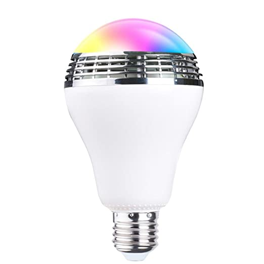 KOBWA - Bombilla LED inteligente con altavoz Bluetooth integrado, regulable, cambio de color,