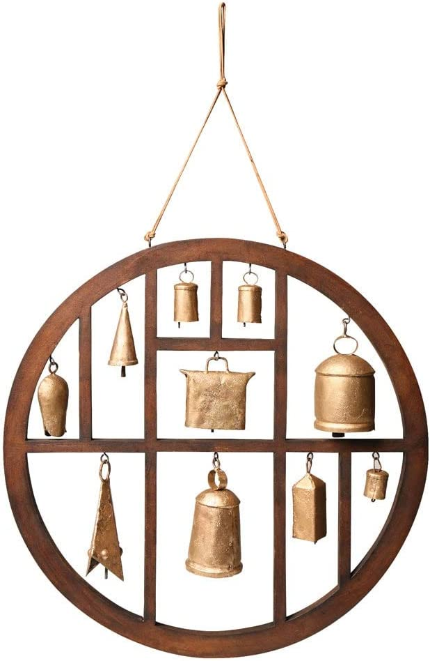 ART & ARTIFACT Circle of Bells Indoor/Outdoor Wind Chime Garden Outdoor Decor