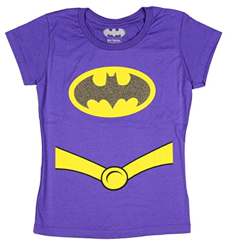 Batgirl Costume Purple - Batman Girls Youth Costume Tee Shirt, Purple XL