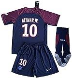 #2: VVBSoccerStore New #10 Neymar Jr 2017/2018 PSG Home Jersey Shorts & Socks For Kids/Youths