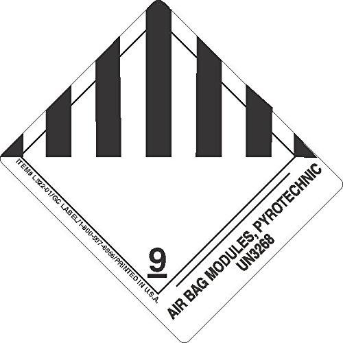 GC Labels-L322P06, Air Bag Modules,pyrotechnic UN3268, Roll of 500 (Air Bag Bags Module)