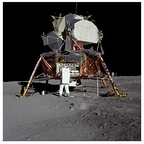 GREATBIGCANVAS Poster Print Entitled an Apollo 11 Astronaut in Front of The Lunar Module by Stocktrek Images 12