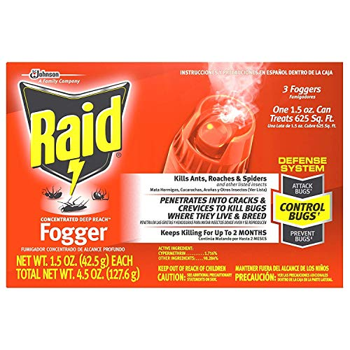 Raid Concentrated Deep Reach Fogger, 1.5 OZ (Pack - 1)