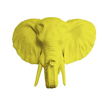 Amazon.com: Wall Charmers Large Faux Elephant Head by Elephant Decor ...