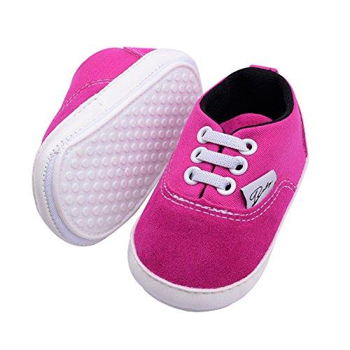 Summens Hausschuhe Weiche Sohle Babyschuhe Lauflernschuhe Kleinkind Schuhe Baby-Leinwand-Turnschuh für Babys, (0-12Monate) Rose