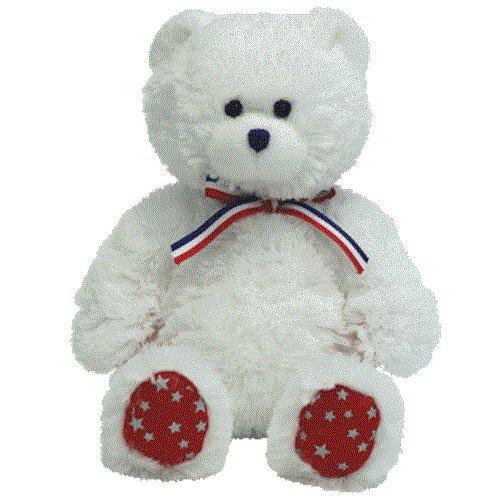 Ty Beanie Babies Uncle Sam - Bear White (Uncle Sam Bear)