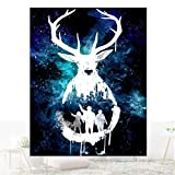 StaunchWea 30x40cm Deer Starry Sky Full Drill Resin Diamond Painting DIY Decor