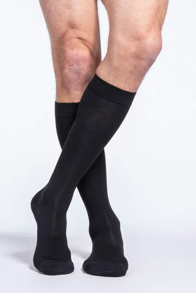 SIGVARIS Men's Essential Cotton 230 Closed Toe Calf-High Socks 20-30mmHg by Sigvaris