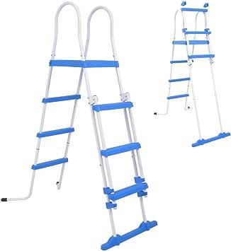 mewmewcat Escalera de Seguridad para Piscina con 3 Peldaños Azul y ...