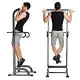 Adjustable Power Tower Exercise Equipment, Pull Up Bar Strength Power Tower Workout Station Fitness Standing Tower for Home Gym
