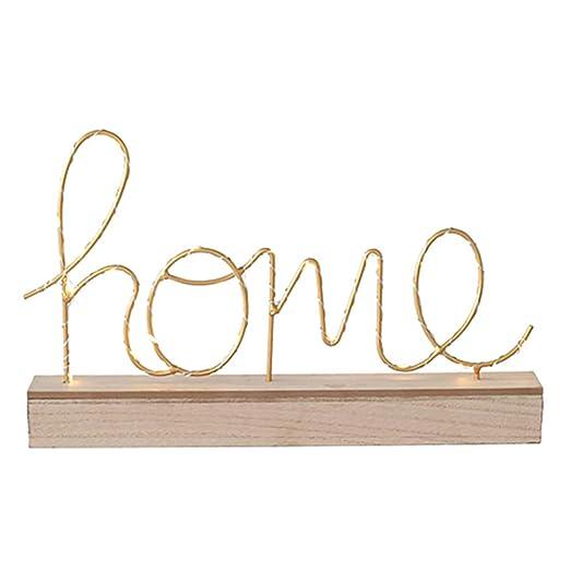 Luces luminosas de letras LED, con pilas Luces iluminadas de madera Decorativas de amor Letreros de letras para el hogar Luces nocturnas para ...