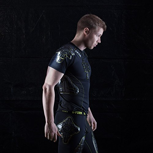 G-Form Pro-X Short Sleeve Compression Shirt, Black/Yellow, Small by G-Form (Image #2)