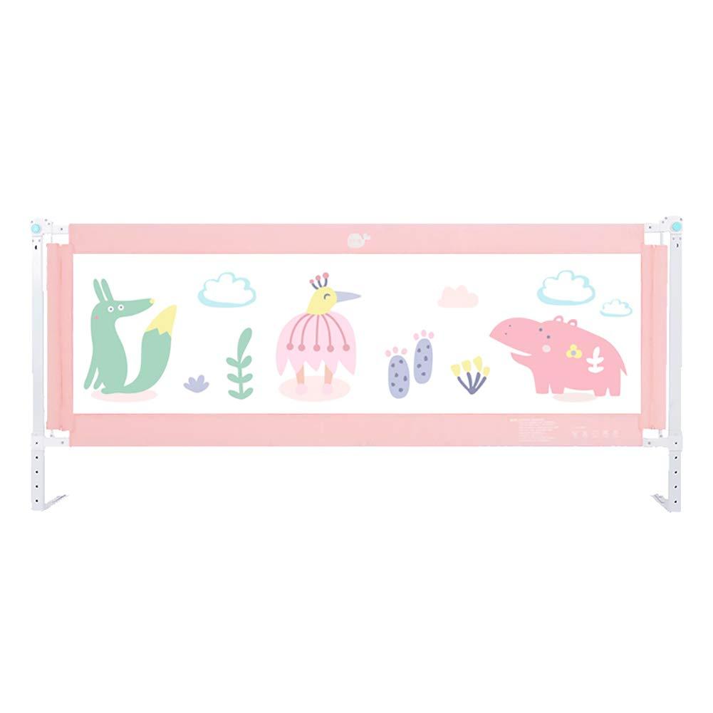 ピンクのベビーベッドレール、強化された安全のベビーベッド幼児のベッドガードはベッドレール180-200cmを折りたたみます (サイズ さいず : 200cm) 200cm  B07MQNTNRB