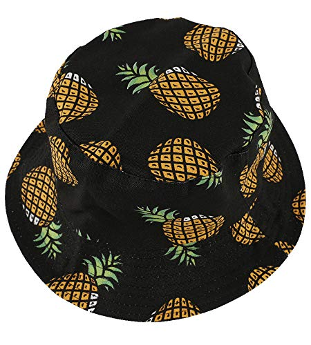 EUPHIE YING Cotton Headwear Fruit Pattern Fashion Bucket Hat Fisherman Cap  Summer Packable Sun Hat b52aeef0c1e1