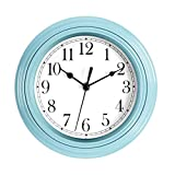 Foxtop Silent Wall Clock Battery Operated Decorative Clock 9 Inch Round Easy to