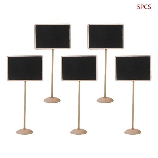 5 pizarras rectangulares de madera con forma de pizarra, para ...
