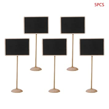 5 pizarras rectangulares de madera con forma de pizarra ...