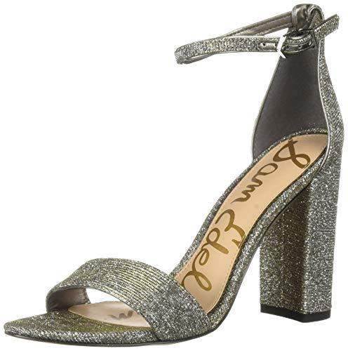 Gold Mesh Buckle - Sam Edelman Women's Yaro Heeled Sandal, Silver/Gold Leopard Glitz mesh, 8 M US