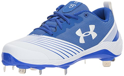 Under Armour Women's Glyde St Softball Shoe, White (142)/Team Royal
